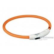 Lesă iluminată cu încărcător USB Trixie M-L 45cm/7mm, orange