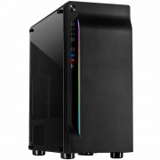 Chassis INTER-TECH A-3411 Creek Gaming Tower, ATX, 1xUSB3.0, 2xUSB2.0, PSU optional, Window side panel, LED light on the front, integrated RGB LED, Black IT-A-3411_CREEK