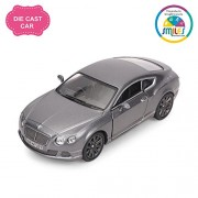 Smiles Creation Kinsmart 1:38 Scale 2012 Bentley Continental GT Speed Car Toys, Gray (5-inch)