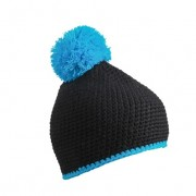 Čepice Myrtle Beach Pompon Hat with contrast stripe