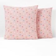 La Redoute Interieurs Fronha de almofada em puro algodão, LOVE PEACEEstampado Rosa- 63 x 63 cm