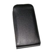 Кожен калъф Flip за Alcatel Pop D3 Черен