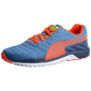 Puma Men's Faas 300 V3 Metallic Blue, Blue and Peach Fabric Running Shoes - 6 UK/India (39 EU)