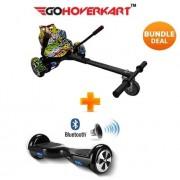"""Hoverkart & 6.5"""" Bluetooth Hoverboard Hip Hop Go Racer Bundle"""