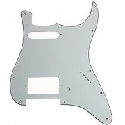 Kmise MI0122 Guitar Pickguard HS 3 Ply Aged White for Fender Strat Replacement