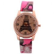 Ismart Analog Paris Design Pink Colour Womens Watches Ladies Watches Girls Watches Designer Watches
