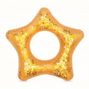 Arany csillogó csillag alakú úszógumi 91cm
