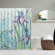 150x180CM Dragonfly Art Waterproof Polyester Shower Curtain With 12 Hooks Bathroom Decor Supplies