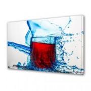 Tablou Canvas Premium Abstract Multicolor Pahar Cu Vin Decoratiuni Moderne pentru Casa 80 x 160 cm