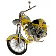 "Orange County Choppers ""Iron Legends"" 1:8 Scale Yellow with Silver Flames by Toy Zone Inc."