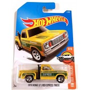 Hot Wheels 2017 1978 Dodge Li'L Red Express Truck HW Hot Trucks Yellow 11/365, Long Card by Mattel