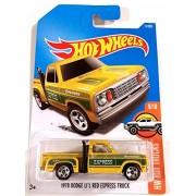 Hot Wheels 2017 1978 Dodge Li'L Red Express Truck HW Hot Trucks Yellow 11/365, Long Card by Mattel