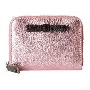Marc Jacobs Metallic Bow Zip Card Case Pink