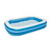 Bestway Alberca Inflable Rectangular 2 Anillos Lisa, 2.62x1.75x51cm