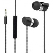 Gold Series BS Power BL-R20 Universal Premium High Quality Smart Channel Converting Stereo 3.5MM Jack Earphones with Mic-BSP-HS-072- EBONY BLACK