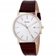 Reloj Bulova 98h51 Para Hombre-Plateado Con Marrón