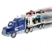 KidPlay Products Friction Semi Truck Trailer Race Cars and Monster Trucks Carrier - Assorted