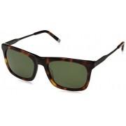 Calvin Klein Calvin Klein Ck4319s anteojos de sol cuadradas para hombre, Carey brillante, 54 mm