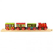 Bigjigs Rail Farm Train - Other Major Wooden Rail Brands are Compatible