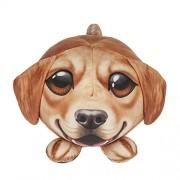 Ganz Piximals Golden Retriever Stuffed Animal Plush Pillow with Big Eyes, 11 Inch Round Dog