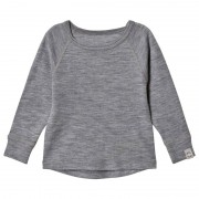 Mikk-LineWool LS Top Pearl Grey Melange128 cm