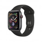 Умные часы Apple Watch Series 4 GPS + Cellular 44mm Space Gray Aluminum Case with Black Sport Band MTVU2 (Серый космос/Черный)