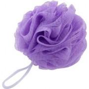 FOXSTON Bath Body Brush Loofah Sponge Nylon Mesh Scrubber Shower Pouf for Men and Women 35 Gram Pack of 1 (Plastic)