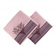 Hobby Sada 2 vínových ručníků Infinity, 50 x 90 cm