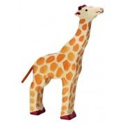 Fa játék állatok - zsiráf, felemelt fejű
