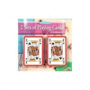 Merkloos 2x pakjes kaartspellen