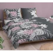 3 részes 220x240 cm ágytakaró szett elegáns ezüstszürke steppelt mintával