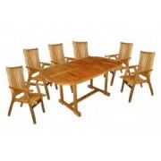 Set masa si sase scaune HECHT ROUNDED