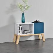 [en.casa] Estantería de oficina - Estante de libros - Consola con compartimentos 30 x 45 x 30 cm