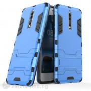 Хибриден калъф със стойка за Nokia 8 - син