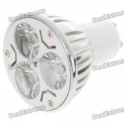 GU10 3W 260lm 3500K caliente de la lampara de luz blanca de la Copa 3-LED (220V AC)