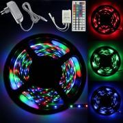 Banda cu LED RGB + Alimentator + Controler + Telecomanda (Kit)