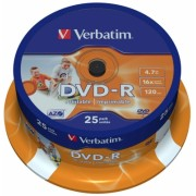 DVD-R 16X 4.7 GB SP 25 bucati Verbatim