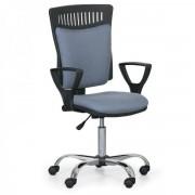 Kovo Praktik Kancelářská židle Balis s područkami šedá