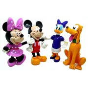 HALO NATION Mickey and Friend Clubhouse Mini Figure Play Set of 4