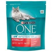 Purina ONE Bifensis Gatos esterilizados salmón - Pack % - 2 x 800 g