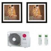 LG Condizionatore Dual Split Parete 9+9 Btu ARTCOOL Gallery Quadro 9000 9000 MA09R.NF1+ MA09R.NF1+ MU2R15.UL0 R-32 A+++ A+