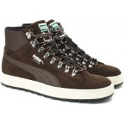 Puma Suede Mid Rugged ModHeritage Sneakers For Men(Brown)