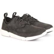 Clarks TRIFLOW FORM BLACK NUBUCK Sneakers For Men(Black)