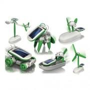 6 In 1 Solar Power Diy Educational Toy Kit Boat Fan Car Robot Puppy Windmill