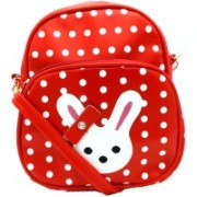 MARIGOLD OVERSEAS MARIGOLD CUTE DOTTED BUNNY STYLE BACKPACK/SLING BAG FOR GIRLS/WOMEN/LADIES CASUAL OR DAILY WEAR/ DAY TRIP OR SHORT TRAVEL 30 L Backpack(Maroon)