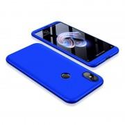 GKK 360 Protection telefon tok hátlap tok Első és hátsó tok telefon tok hátlap az egész testet fedő Xiaomi redmi 5 NOTE (dual kamera) / redmi NOTE 5 Pro kék