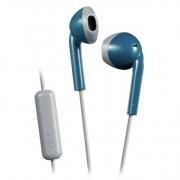 JVC hoofdtelefoon in-ear + microfoon blauw-grijs HA-F19M