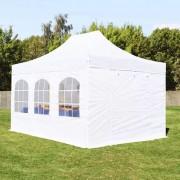 taltpartner.se Snabbtält 3x4,5m PES 350 g/m² vit vattentät