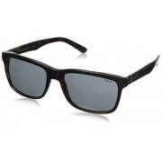 Ralph Lauren Polo Ralph Lauren Men's 0PH4098 Square Sunglasses, Top Black On Jerry Tortoise, 57 mm