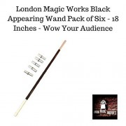 London Magic Works Appearing 18 Inch Magic Wand(pack of 6)- Magically appears at your fingertips!